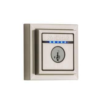 Kwikset Kevo Contemporary Smart Lock Deadbolt Satin Nickel