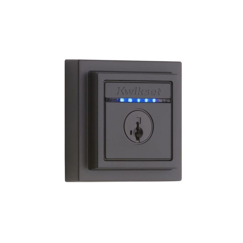 Deadbolt Kevo Contemporary Touch-To-Open Smart Lock Matt Black