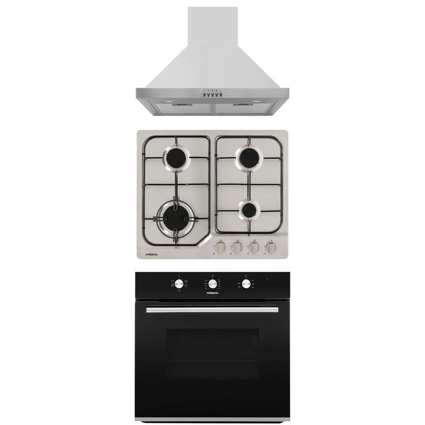 Milano Cooking Package with Canopy Rangehood 600mm