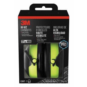 3M Pro-Grade Earmuff Hi-Viz Green