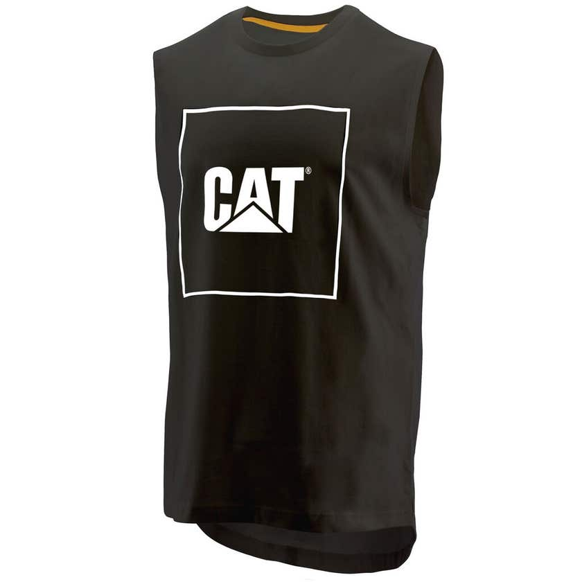 CAT Muscle Logo T-Shirt Black Medium