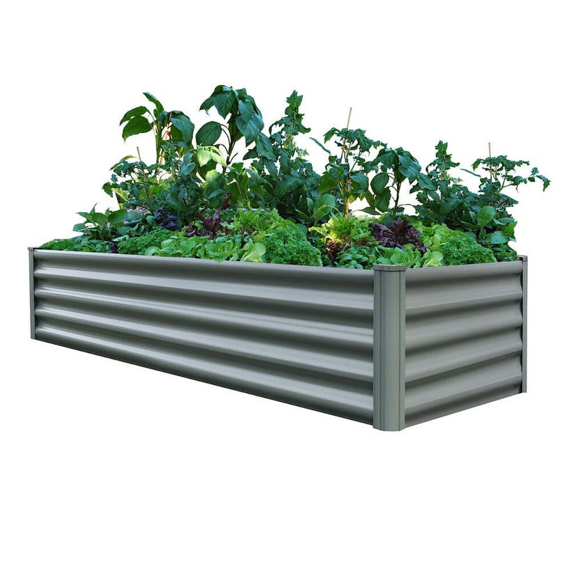 Organic Garden Co Rectangular Raised Garden Bed 200 x 50 x 41cm