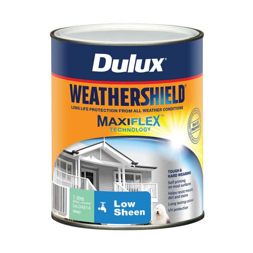 Dulux Weathershield Exterior Low Sheen Deep 1L