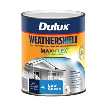 Dulux Weathershield Exterior Low Sheen Ultra Deep Base 1L