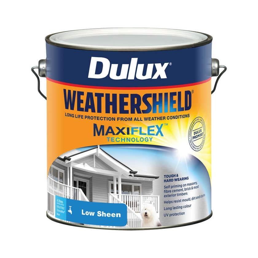 Dulux Weathershield Exterior Low Sheen ChromaMax Blue 4L