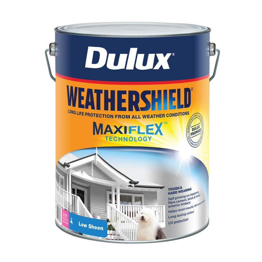 Dulux Weathershield Exterior Low Sheen Extra Bright Base 10L