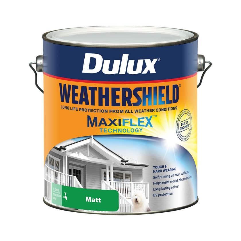 Dulux Weathershield Exterior Matt Deep Base 4L