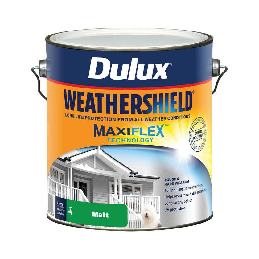 Dulux Weathershield Exterior Matt Ultra Deep Base 4L