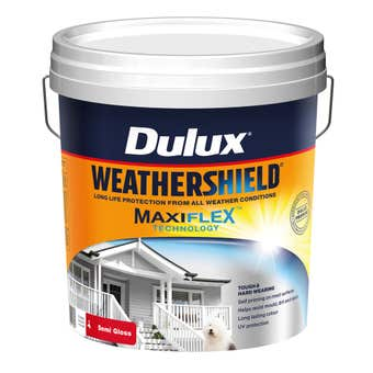 Dulux Weathershield Exterior Semi Gloss Vivid White 15L