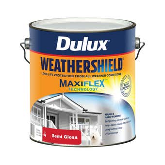 Dulux Weathershield Exterior Semi Gloss Vivid White 4L