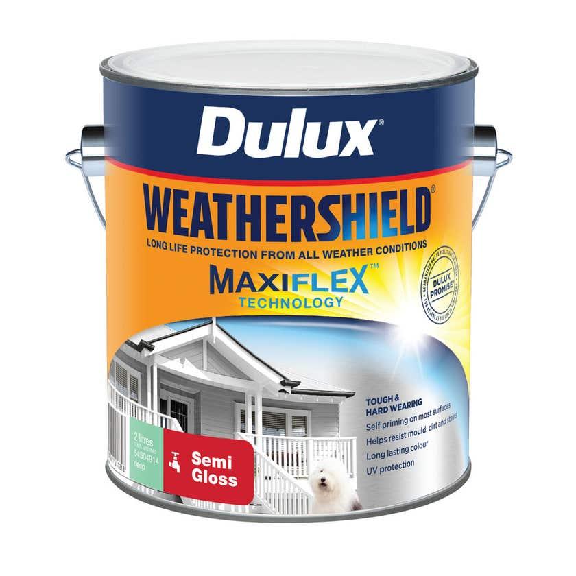 Dulux Weathershield Exterior Semi Gloss Deep 2L