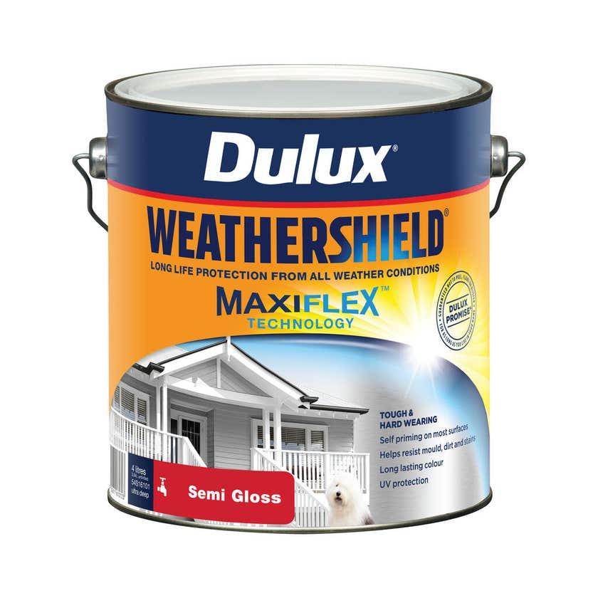 Dulux Weathershield Exterior Semi Gloss Ultra Deep Base 4L