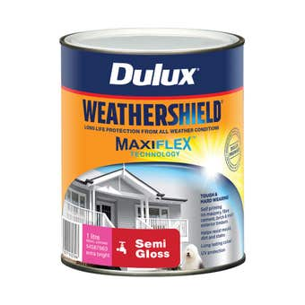 Dulux Weathershield Exterior Semi Gloss Extra Bright Base 1L