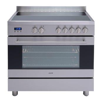 Euro Appliances Freestanding Electric Oven Ceran Hob 900mm