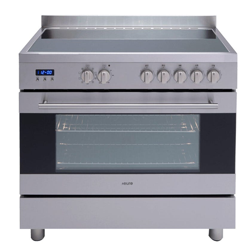 Euro Appliances Freestanding Electric Oven Ceran Hob 900mm