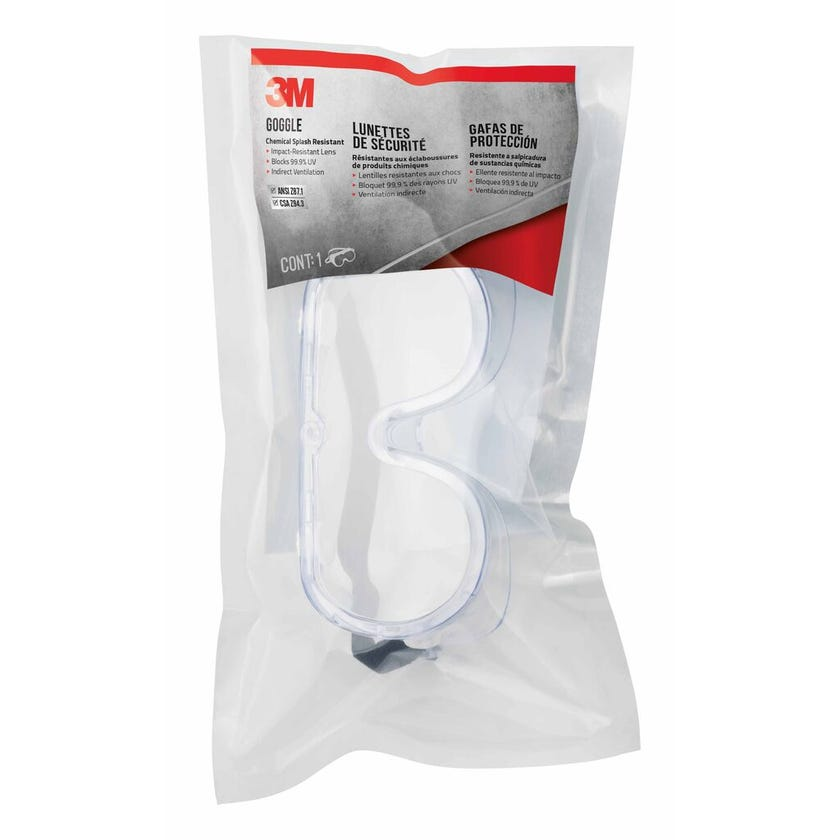 3M Chemical Splash Resistant Safety Goggle