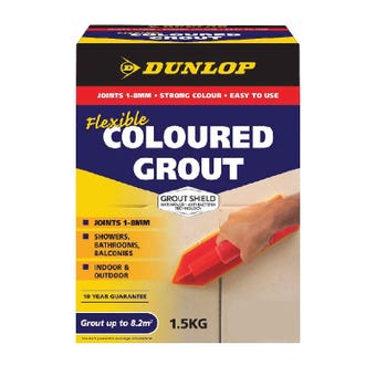 Dunlop 1.5 KG Coloured Grout French Vanilla