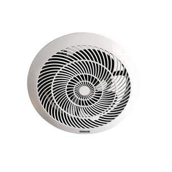 Sunair Ball Bearing Exhaust Fan White 200mm