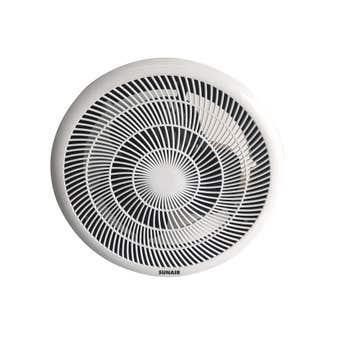 Sunair Ball Bearing Exhaust Fan White 250mm