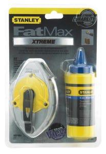Stanley FatMax Pro 30m/100' Chalk Line Reel with 4oz Blue Chalk