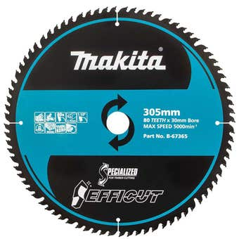 Makita TCT Efficut Saw Blade 80T 305mm