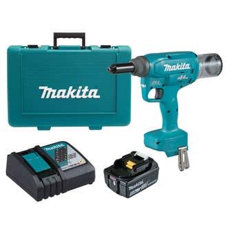 Makita 18V Brushless Rivet Gun Kit 6.4mm DRV250RT