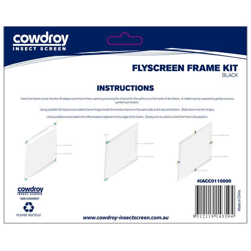 Cowdroy Flyscreen Frame Kit