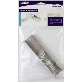 Cowdroy Mitre Box Aluminium Suits 25mm Frame 140mm
