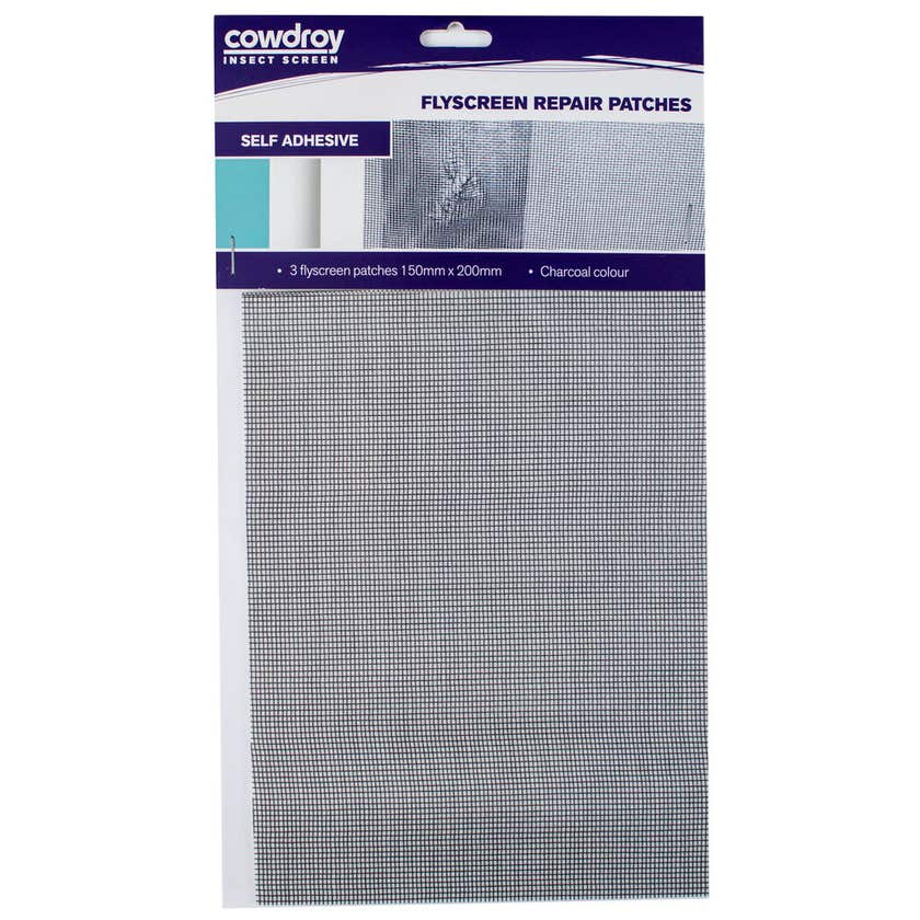 Cowdroy Flyscreen Repair Patches 150 x 200mm 3 Pack