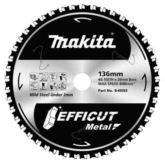 Makita TCT Efficut Metal Saw Blade 136mm