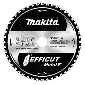 Makita TCT Efficut Metal Saw Blade 48T 150mm