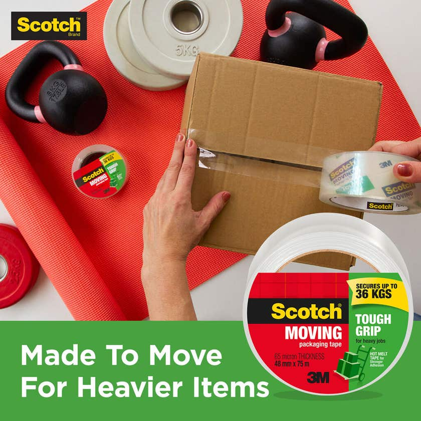 Scotch Tough Grip Packaging Tape 48mm x 50m - 6 Pack