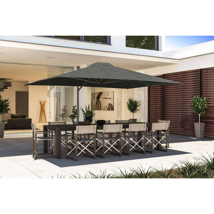 Coolaroo Cantilever Umbrella Rectangle Charcoal 3x4m Brampton