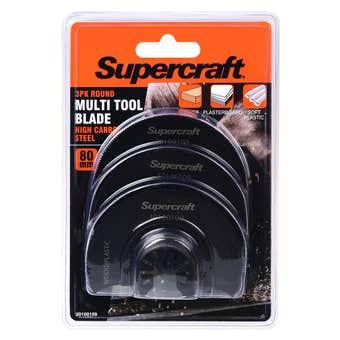 Supercraft Multi Tool Blade Wood 80mm - 3 Pack