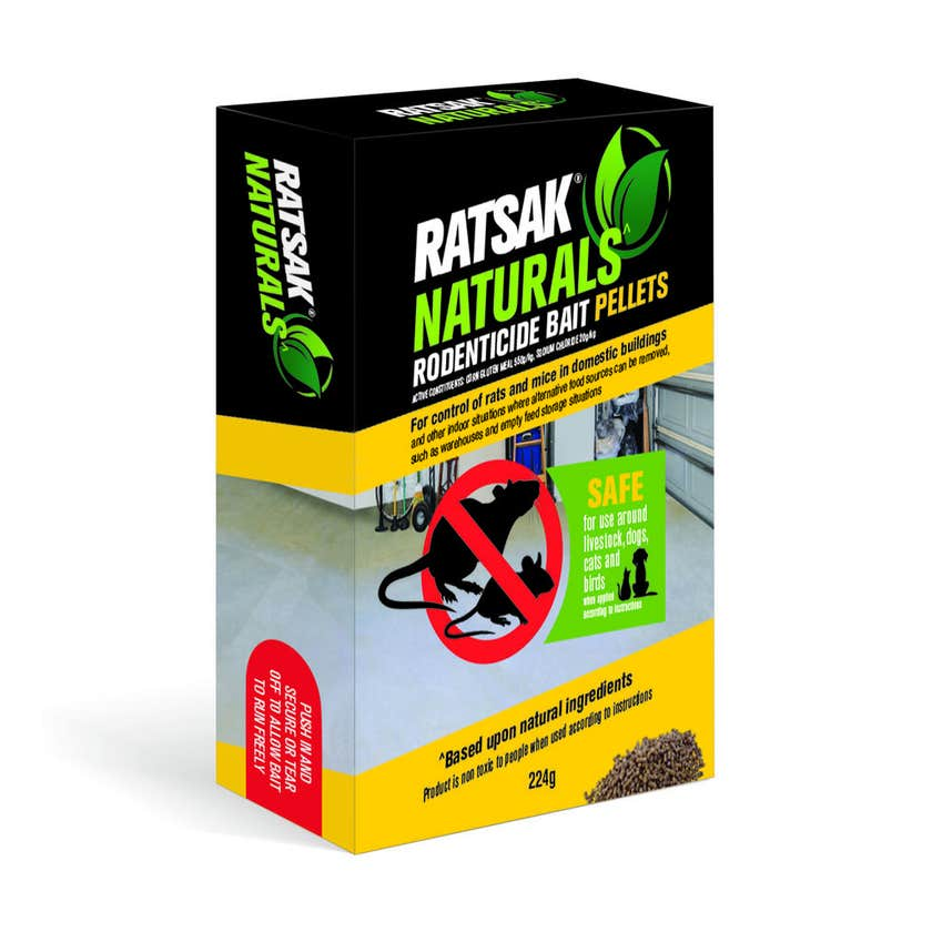 Ratsak Naturals Rodent Bait Pellets 224g