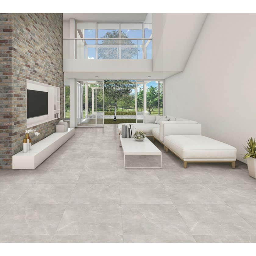 Marbletech Porcelain Tile Grey Matt 600 x 300mm