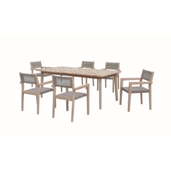 Bondi 6 Seater Timber Dining Set
