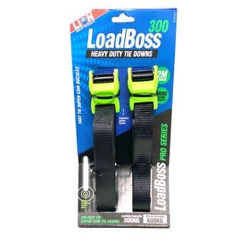 Lion LoadBoss Heavy Duty Tie Downs 2m - 2 Piece
