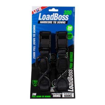 Lion LoadBoss Hard Core Pull Down Tie Downs 3m - 2 Piece