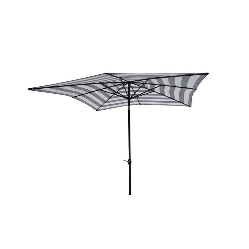 Aluminium Market Umbrella Black & White 2.5m