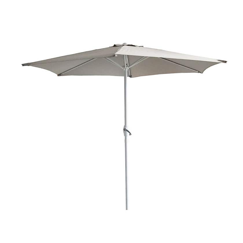 Steel Market Umbrella Taupe 2.5m