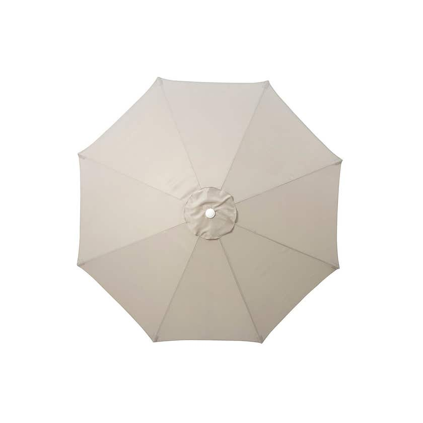Aluminium Market Umbrella Taupe 2.95m