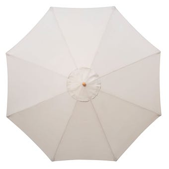 Timber Market Umbrella Taupe 2.95m