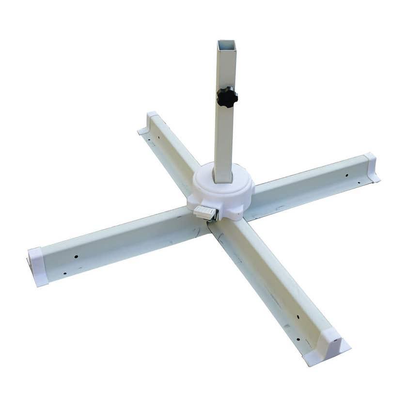 Aluminium Cantilever Umbrella Cool Grey 2.95m