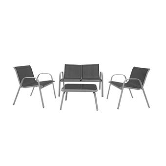 Pacific 4 Seater Steel Lounge Setting