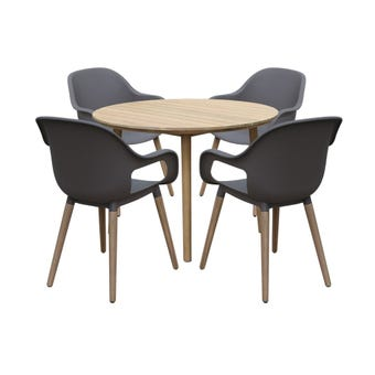 Idaho 4 Seater Timber Dining Setting