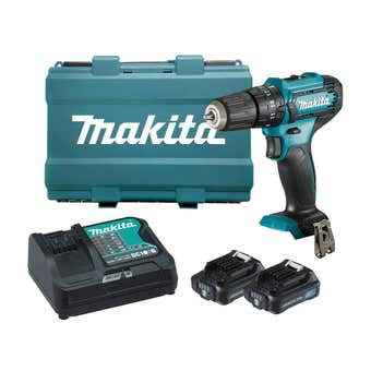 Makita 12v 2 x 2.0Ah Hammer Driver Drill Kit 10mm HP333DSAE