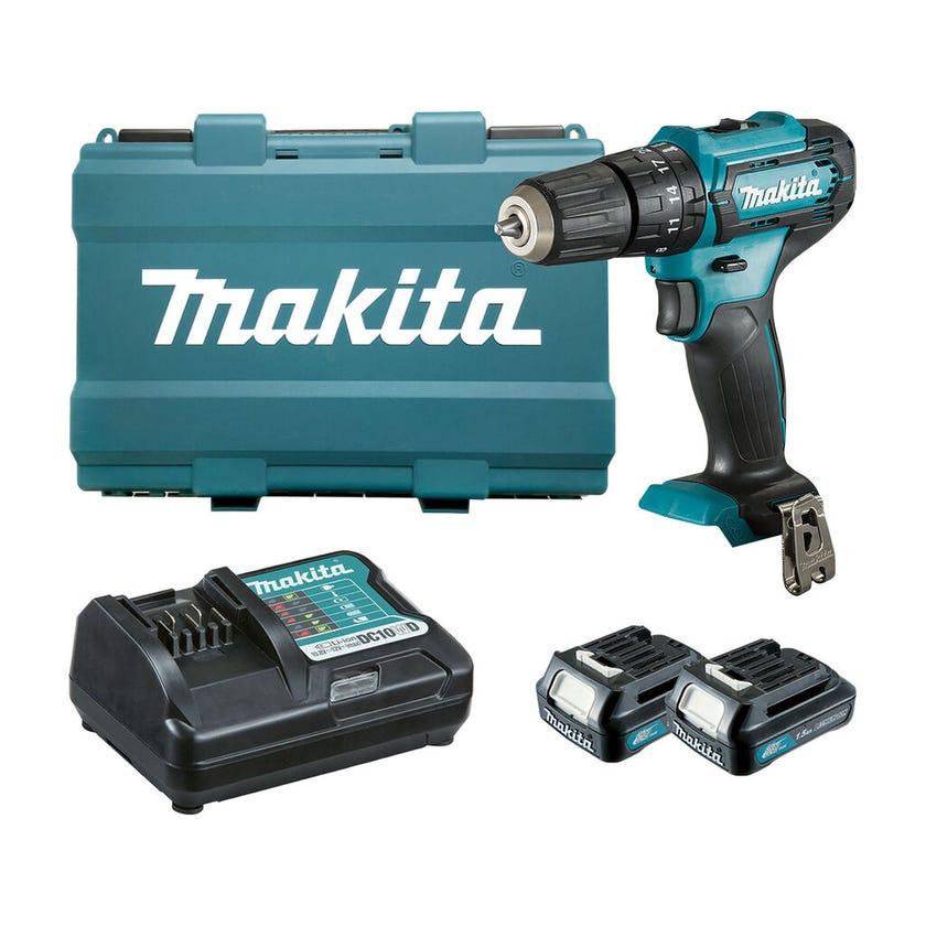 Makita 12V 2 x 1.5Ah Hammer Driver Drill Kit 10mm HP333DWYE
