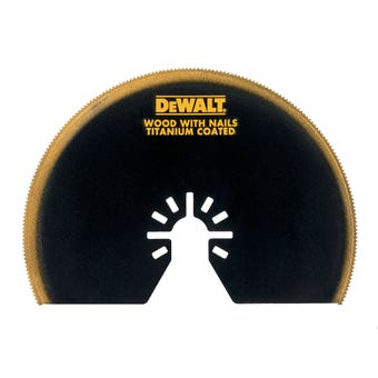 DeWALT Semicircle Multi-Tool Blade Wood/Nails 102mm