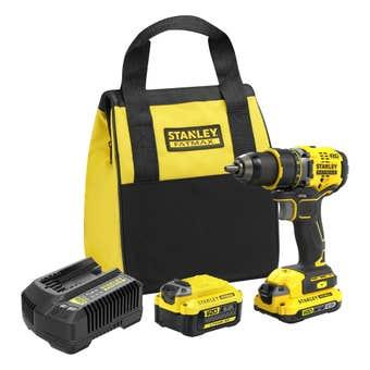 Stanley FatMax V20 18V Brushless Drill Driver Kit 2.0Ah 6.0Ah SFMCD720DR2-XE